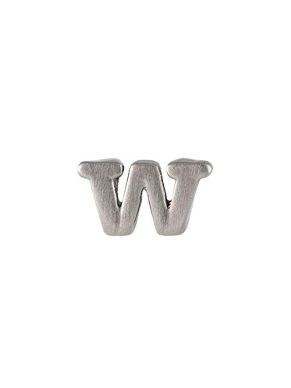 Silver 'W' Slider Charm
