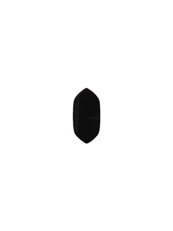 Large Black Agate Spacer