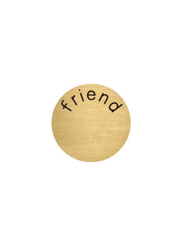 'Friend' Medium Gold Coin