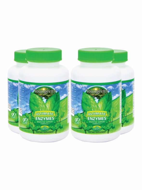 Ultimate Enzymes®- 120 capsules (4 Pack)