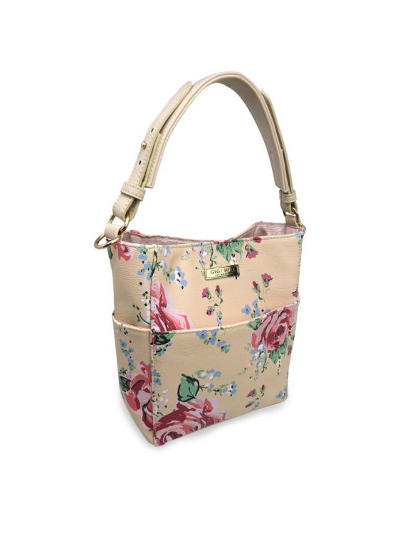 Ella Antique Floral Mini Bucket Bag