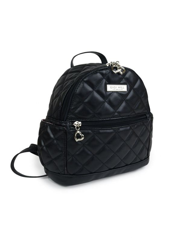 Lennon Quilted Black Backpack