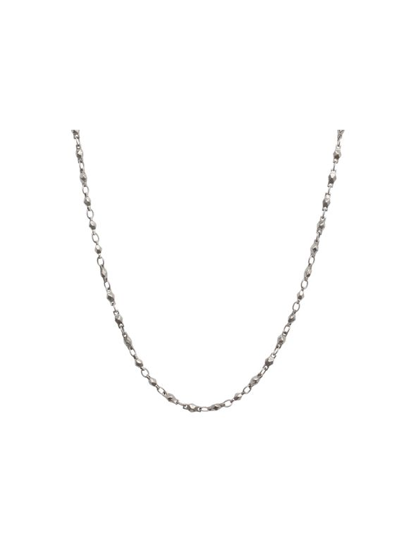 """Silver Multifaceted Link Chain - 28"""""""