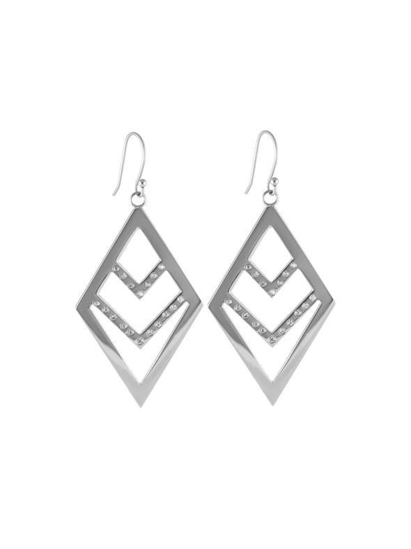 Silver Chevron Earrings