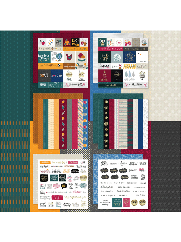 Fall Into Winter Designer Cardstock