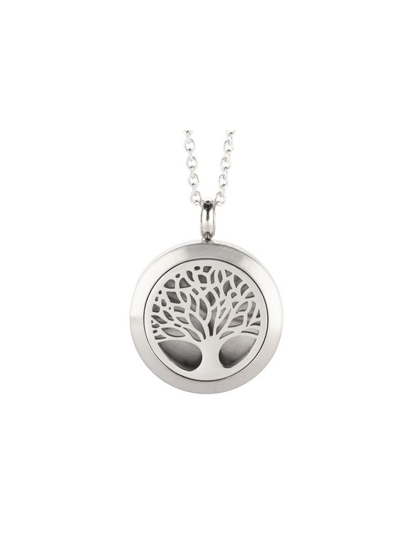 Tree Of Life Essential Oil Locket Silver