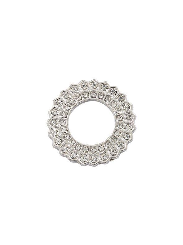 Crystal Sunburst Silver Circle Frame