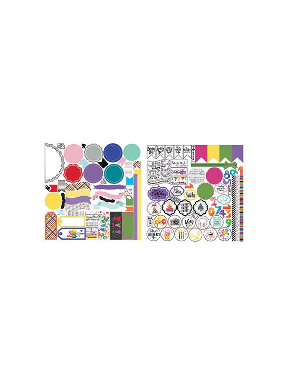 Everyday Birthday Stackable Stickers-Wonder Collection by Lauren Hinds
