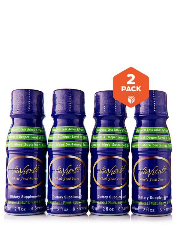 ViaViente Whole Food Puree 2 Pack (8-2oz Bottles, 4 Bottles per Pack)